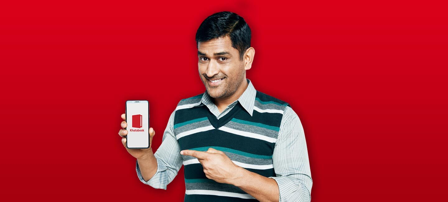 Welcome to Khatabook MS Dhoni, an Investor and Brand Ambassador
