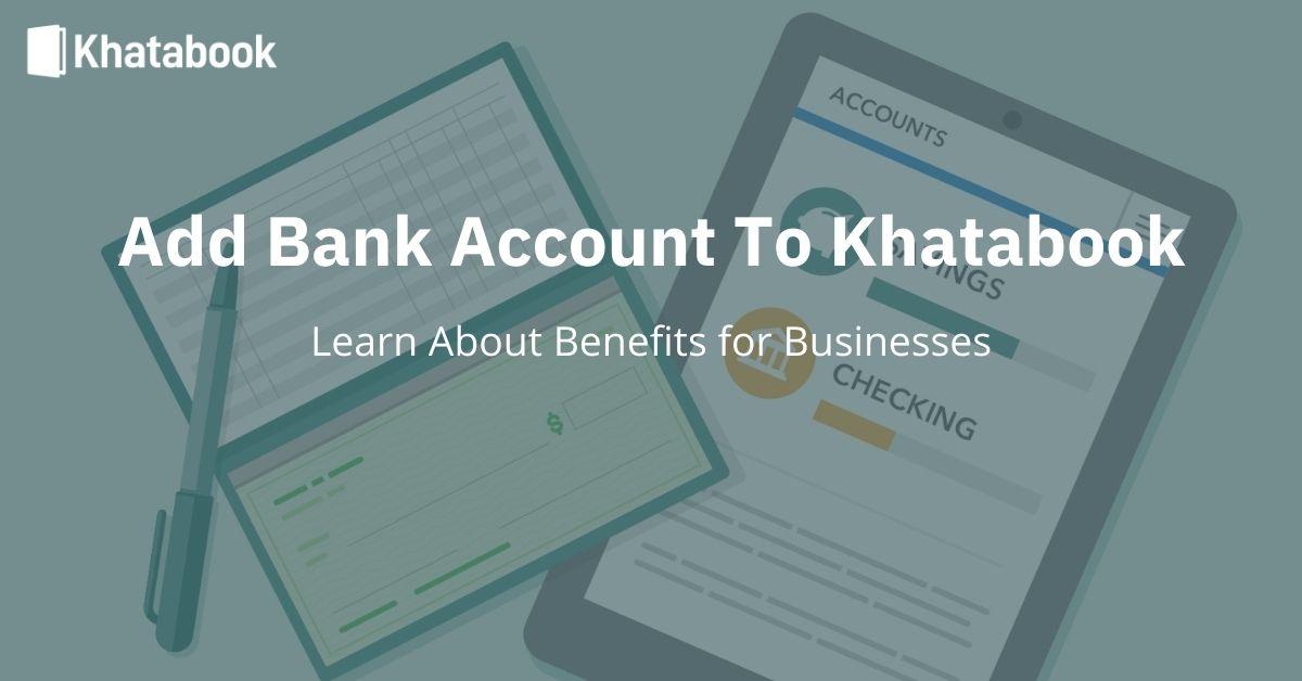 Add Bank Account in Khatabook App