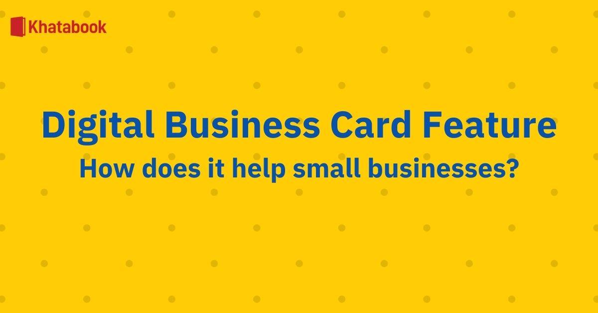 Khatabook Digital Business Card