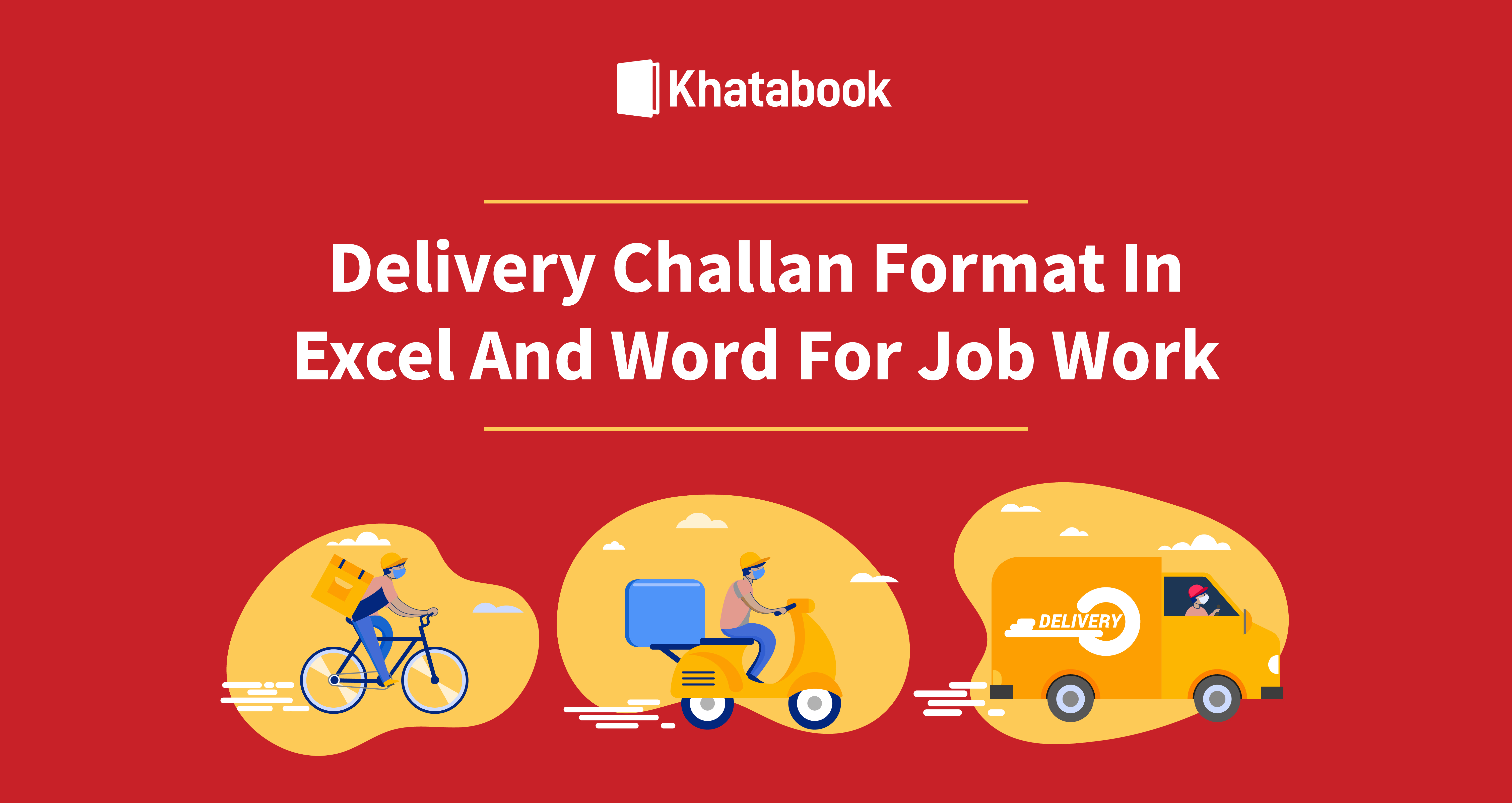 Delivery Challan Format in Excel and Word for Job Work