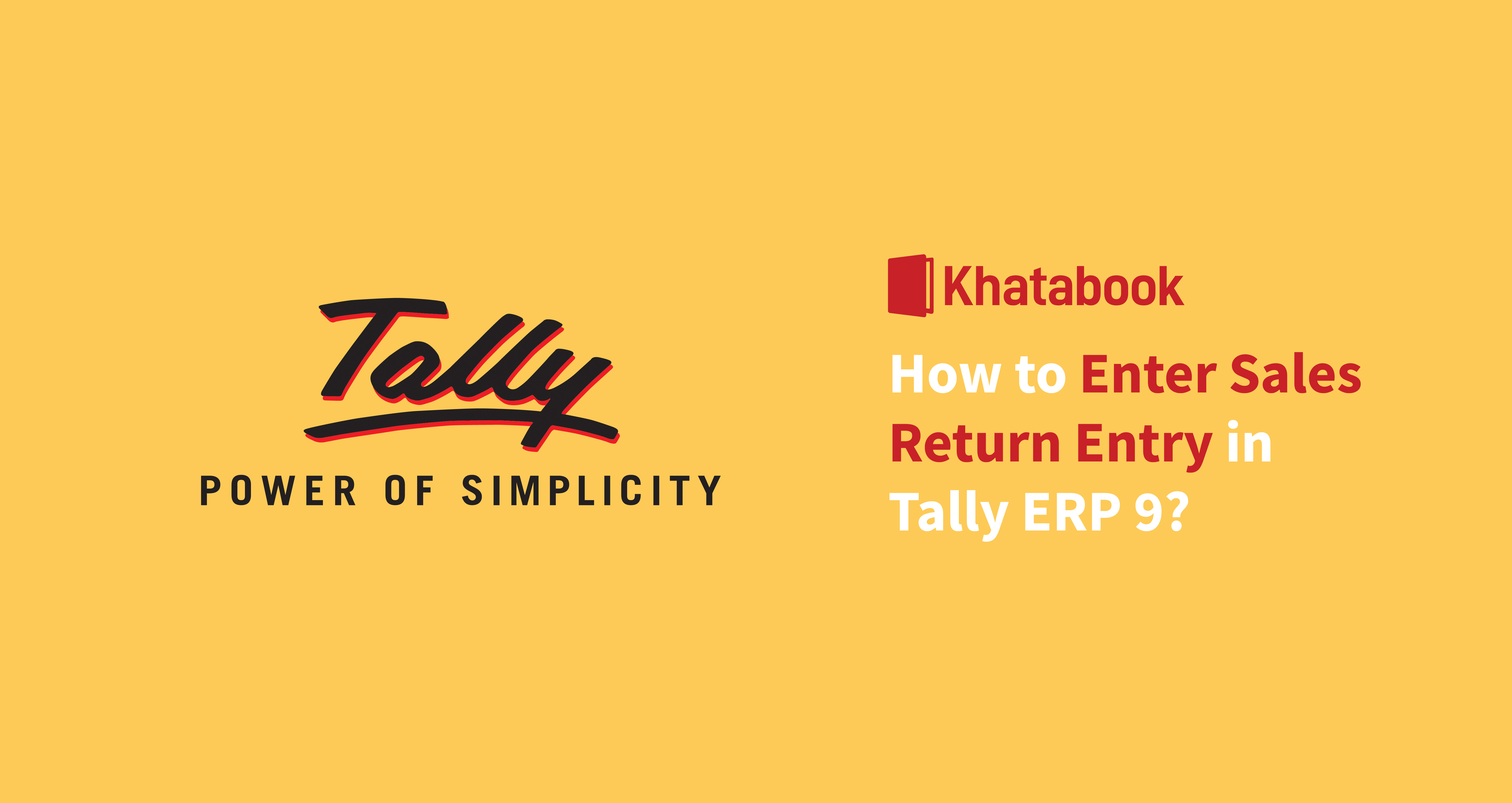 How to Enter Sales Return Entry in Tally ERP 9?