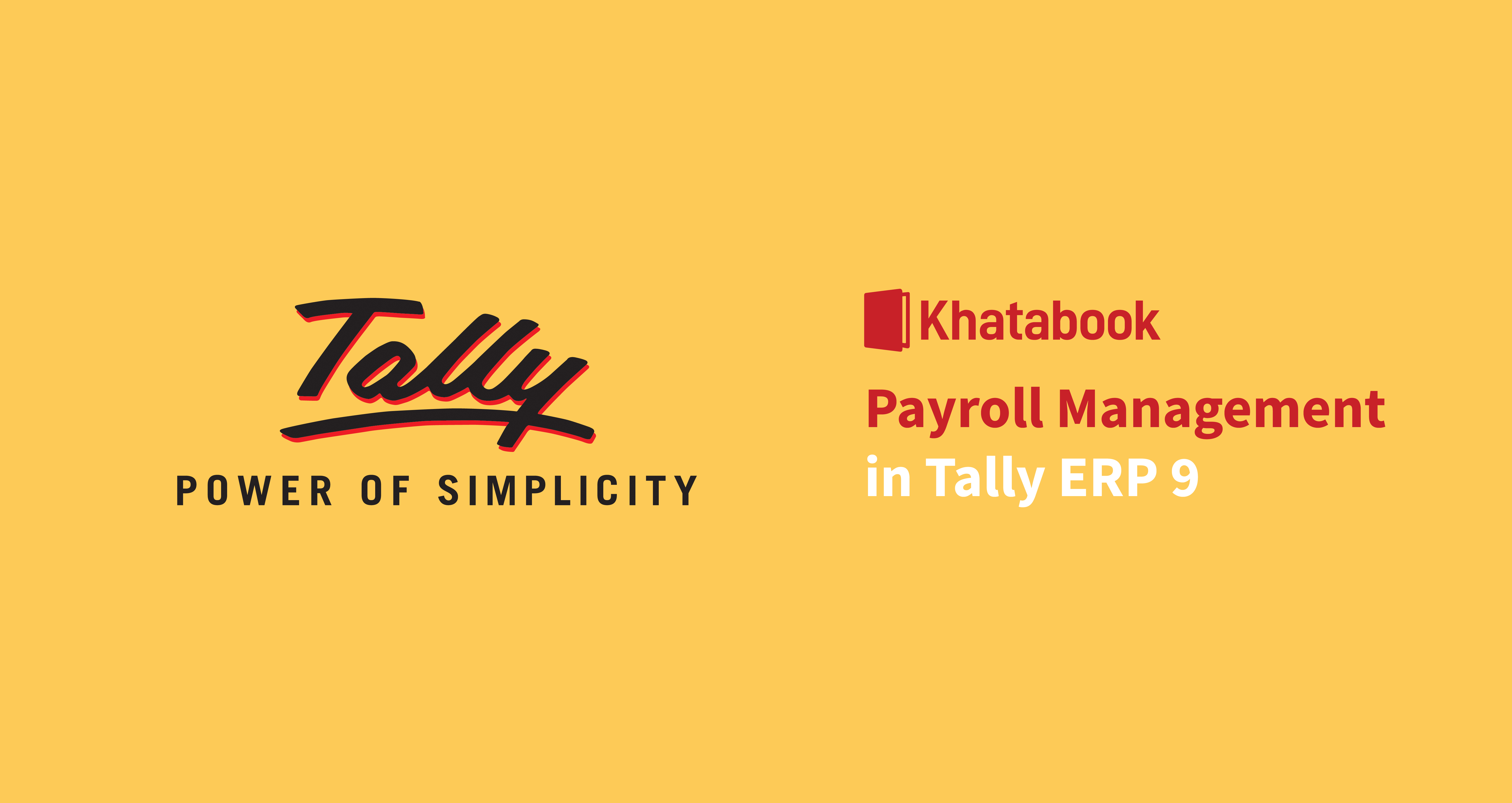 How to do Payroll Management in Tally ERP 9