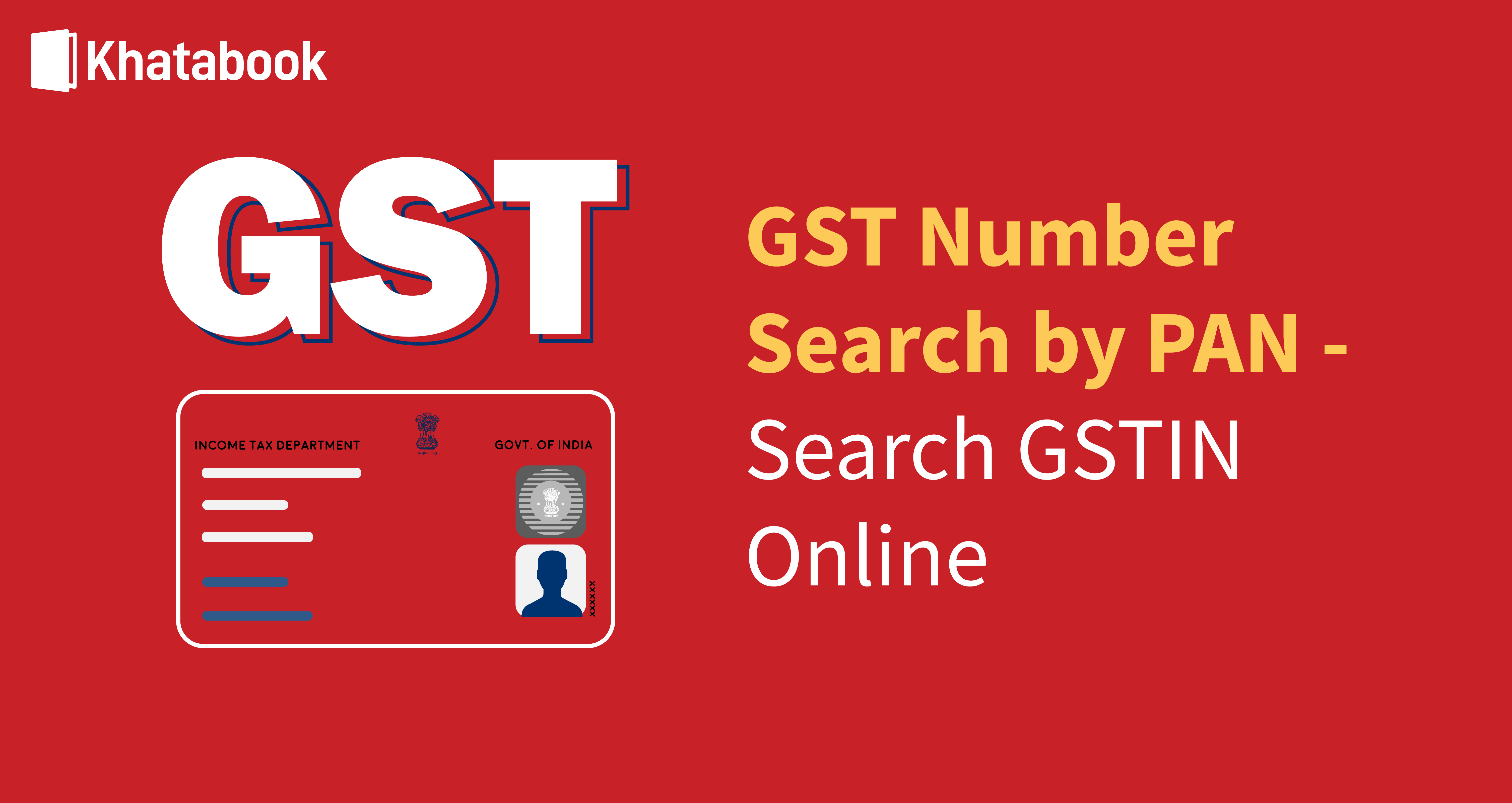 How to do GST Number Search by PAN?